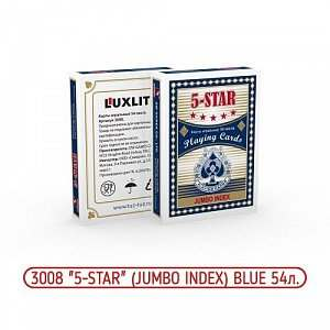 Карты 5-Star Blue № 3008 Jumbo Index