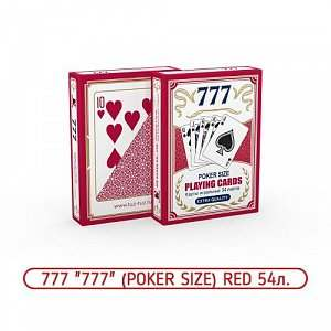 Карты 777 Red Poker Size